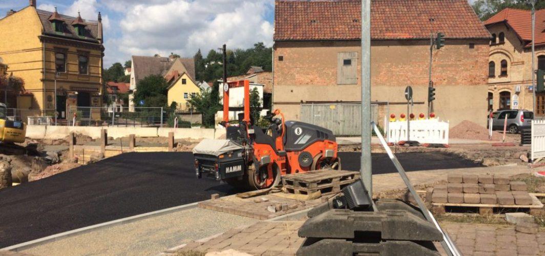 Bauarbeiten an der Fähre Wettin fast abgeschlossen.