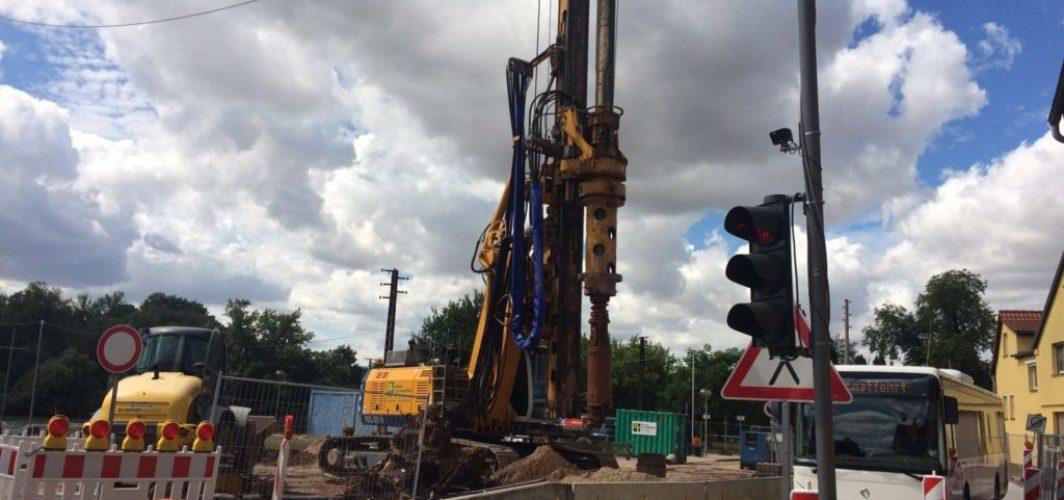 Bauarbeiten an der Fähre Wettin schreiten voran