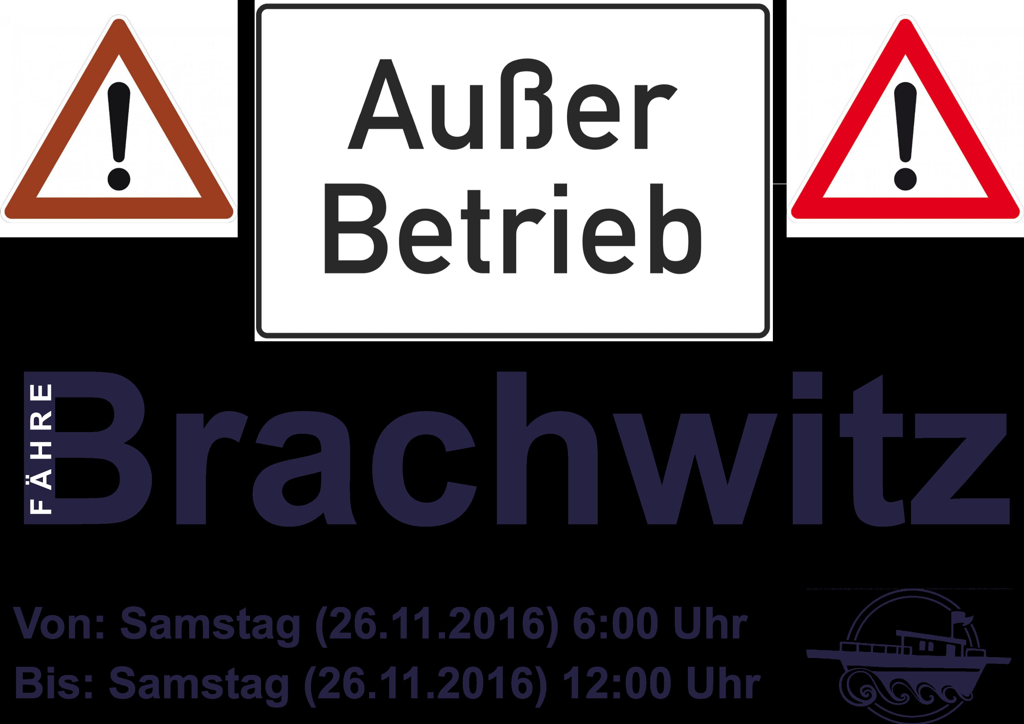 Fähre Brachwitz außer Betrieb 26.11.2016
