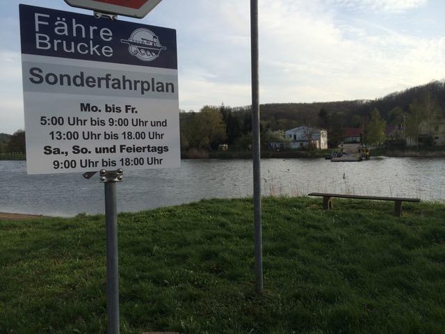 Sonderfahrplan Fähre Brucke Rothenburg
